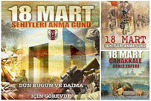 Genelkurmay Başkanlığı, Çanakkale Zaferi'nin 102'nci yıl dönümü için hazırladığı afişlerde Mustafa Kemal Atatürk'e yer vermedi. TSK tarafından hazırlanan ve resmi internet sitesinden yayınlanan 3 afişte de Atatürk'ün olmaması sosyal medya kullanıcılarının da dikkatinden...   http://havari.co/sosyal-medya-genelkurmay-baskanliginin-ataturksuz-canakkale-afislerini-tartisiyor/