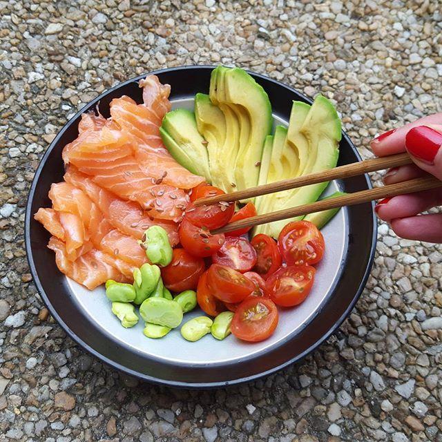 Pas la motivation et le temps de faire de la grande cuisine alors ce petit bol près en 5 mn est parfait  remplit de vitamines et minéraux et 0 cuisson c'est quoi ce temps tout tristounet ???   #sashimi #raw #healthy #sain #miam #healthyeating #paleo #fitfam #fitfrenchies #dietitian #nutrition #nutritionist #fitgirl #bowl #bordeaux #fit #yogafood #reequilibragealimentaire #regimeuse #tbc  #diet #food #foodporn