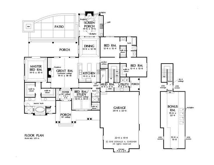 I Am IN LOVE With This Floor Plan! The Drake Home Plan # W