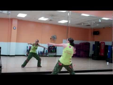 My favorite zumba routine. Easy and fun to do, but doesn't require a lot of room.
