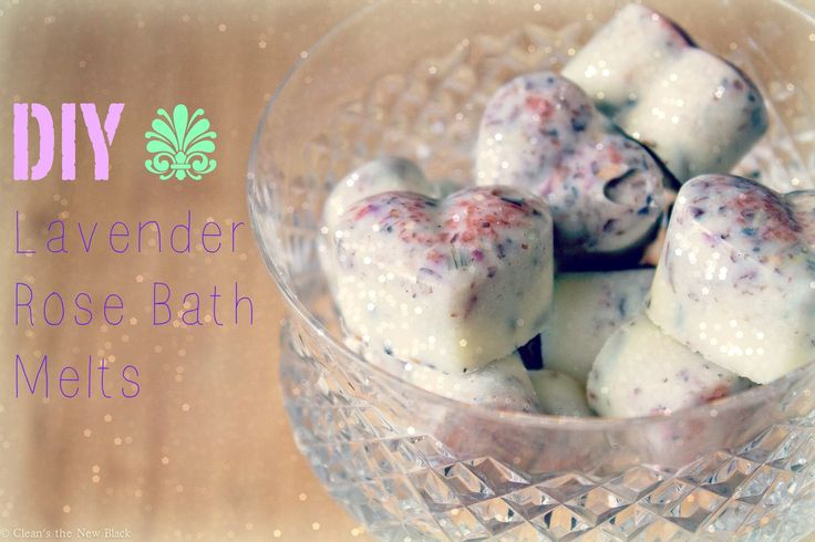 Make your own calming Lavender Rose Bath Melts at home. Just one added to warm bath water will leave your skin softened and moisturized and mind relaxed..