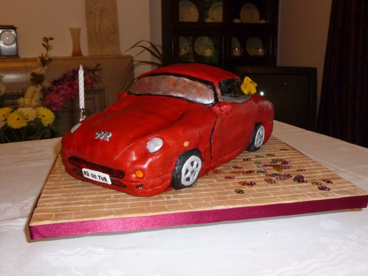 Roy's TVR cake for his 60th birthday