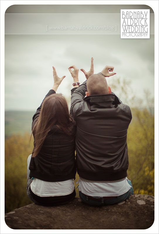 More cute engagement photos. :) would be cute for wedding photo as well