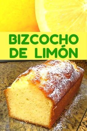 bizcocho de limón casero
