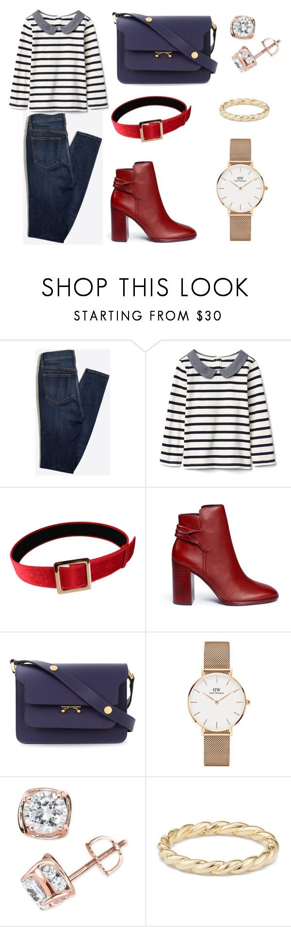 """sailors outfit"" by meliaa888 ❤ liked on Polyvore featuring Mercedes Castillo, Marni, Daniel Wellington, TruMiracle and David Yurman"