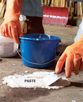 Removing oil paint and other concrete stains the family for Trisodium phosphate for cleaning concrete