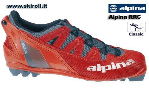 Scarpe Alpina RRC Classic Summer Rollerski Boot: Scarpe Alpina per la tecnica classica su skiroll. Per attacco NNN