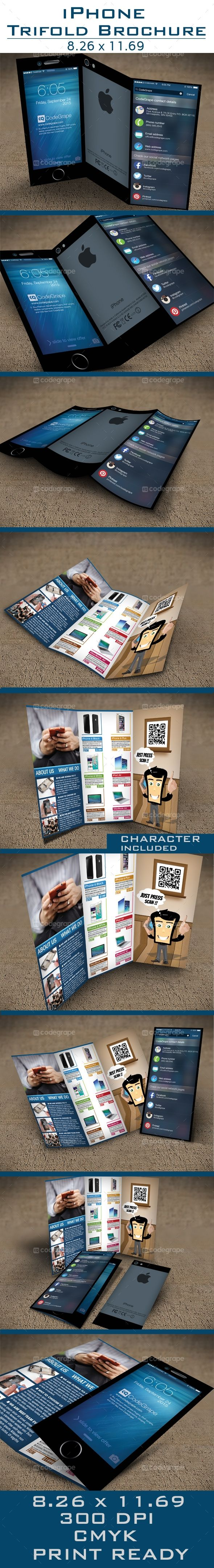 iPhone Tri-Fold Brochure - http://www.codegrape.com/item/iphone-tri-fold-brochure/5388