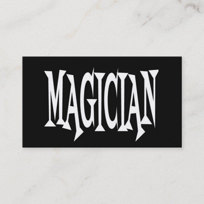 Magician Black And White Business Card Zazzle Com White Business Card Text Business Card The Magicians