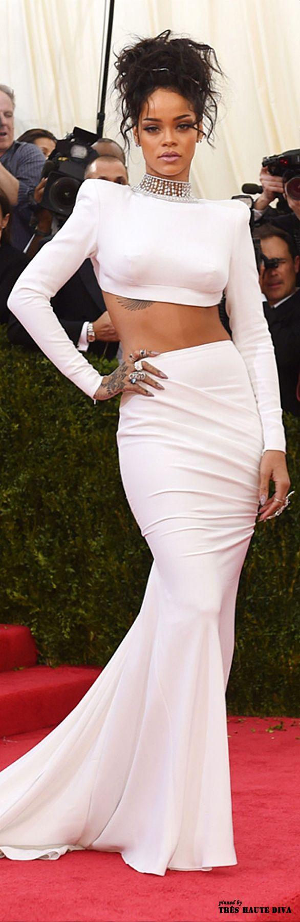Rihanna in Stella McCartney at the Met Gala 2014 | Keep The Glamour ♡ ✤ LadyLuxury ✤