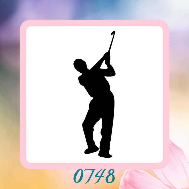 A personal favorite from my Etsy shop https://www.etsy.com/listing/223188513/male-golfer-silhouette-reusable-craft