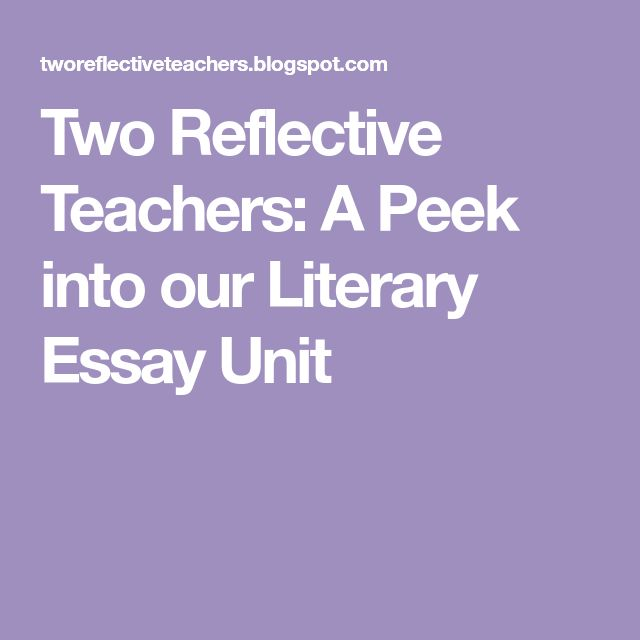 best literary essay ideas literary writing  two reflective teachers a peek into our literary essay unit
