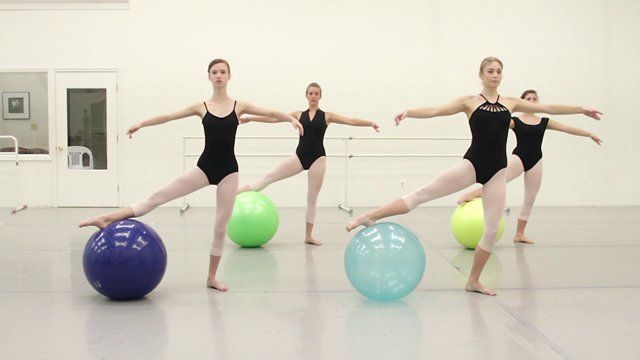Innovative technique using an exercise ball to reinforce proper ballet technique and increase muscle memory. This program was developed by Marie Walton Mahon of the Royal Academy of Dance in Australia. http://www.academiedeballet.com/ http://www.hamptonroadsphotography.com/