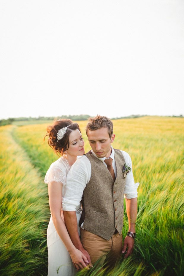 Bride and Groom Portrait // Natural Romantic Wedding // One Fab Day