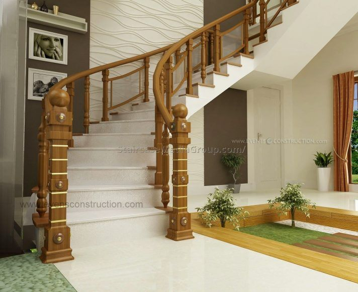 Wooden Staircase Railing Designs In Kerala Best Staircase