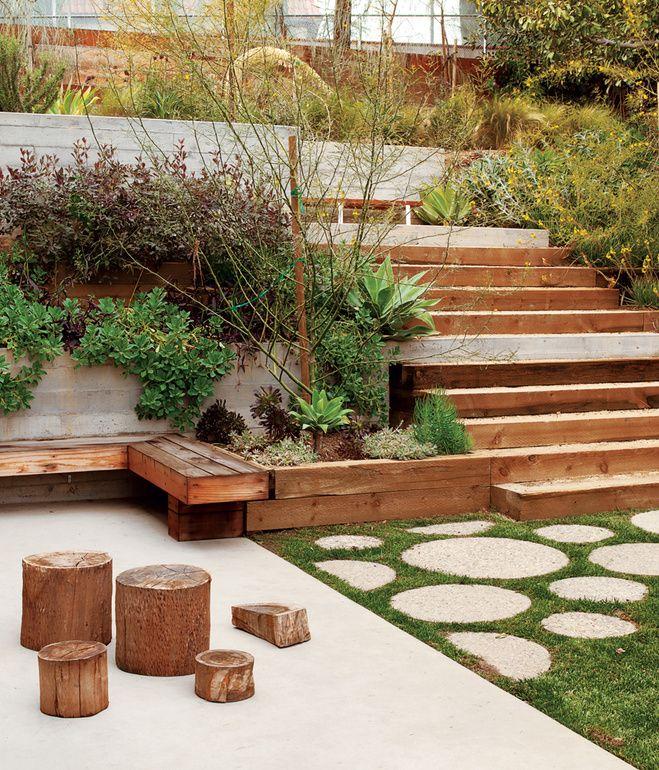 mid century garden design