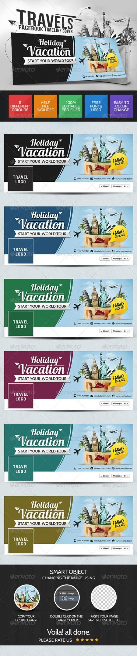 GraphicRiver Vacation Facebook Cover Page 7688548