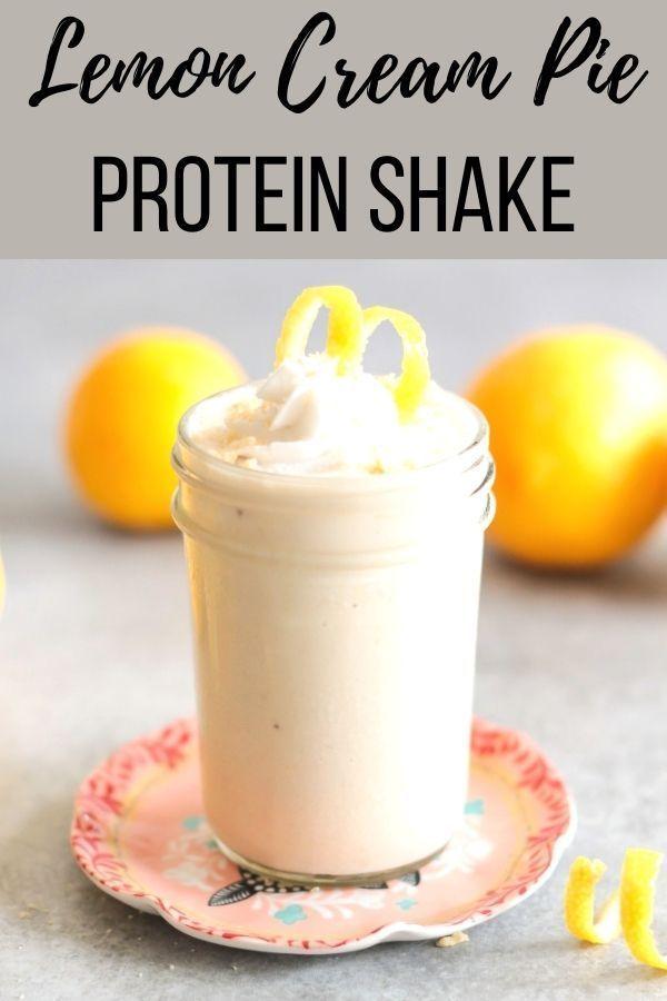 Lemon Cream Pie Vegan Protein Shake Recipe Le Petit Eats Recipe Vegan Protein Shake Recipes Vegan Protein Shake Protein Drink Recipes