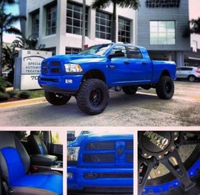 Omg! That BLUE. :D