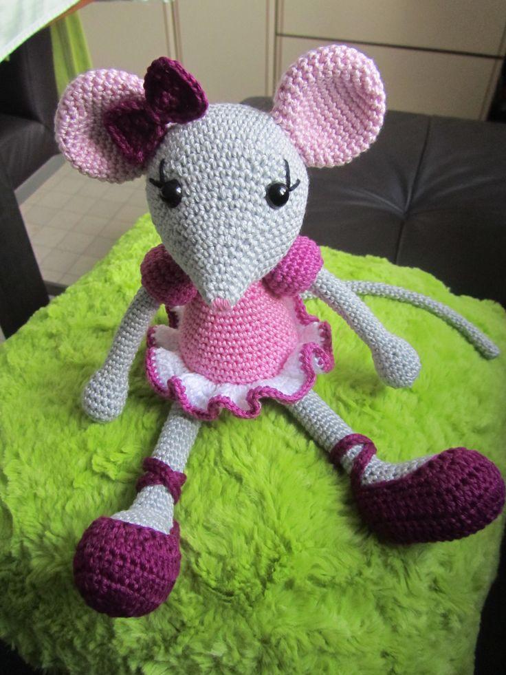 Häkel-Maus Amigurumi Ballerina nach einer Anleitung von Lilleliis * Crochet-Ballerina-Mouse ** Made by Meli :-)