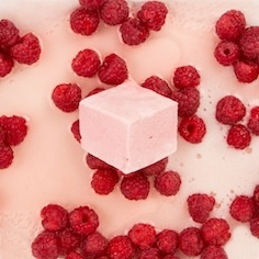 Raspberry & Champagne We use premium rosé champagne to lift the whole fruit raspberries in this delicate marshmallow. A light and sparkling note to enhance the fresh berries . Grown up and a tad decadent- this is the most popular flavour in our range.
