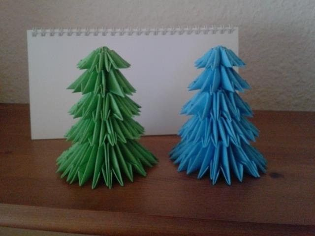 Tutorial 3D Origami Weihnachtsbaum - Christmas Tree (with ENG SUBS)