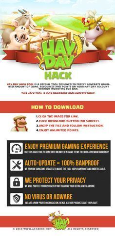Hay Day Hack - Online Hay Day Hack by simply visiting the link and follow the instructions.  http://a1hacks.com/hay-day/   like and repin in order to get preference for more free resources. Thanks hay day cheats,hay day hack,hay day hack descargar,hay day hack android,hay day hack last ned,hay day hack raccolta,hay day hack téléchargement,android, hay day online hack, no download
