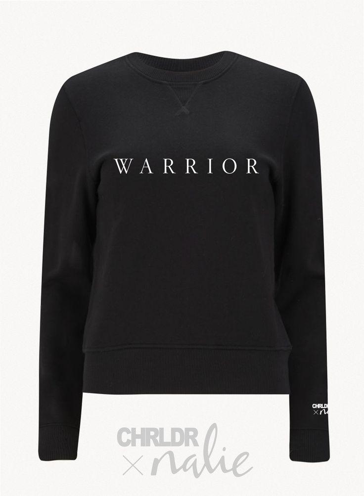 WARRIOR — CHRLDR X Nalie Black Sweatshirt