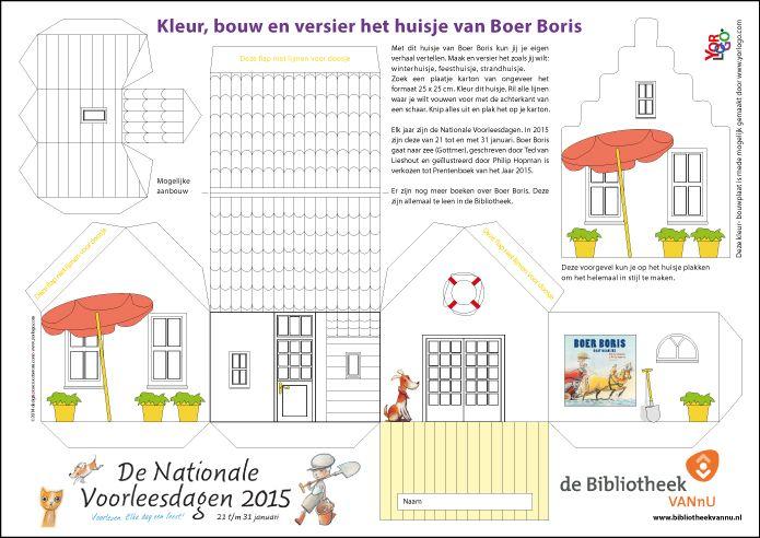 Bouwplaat huisje Boer Boris