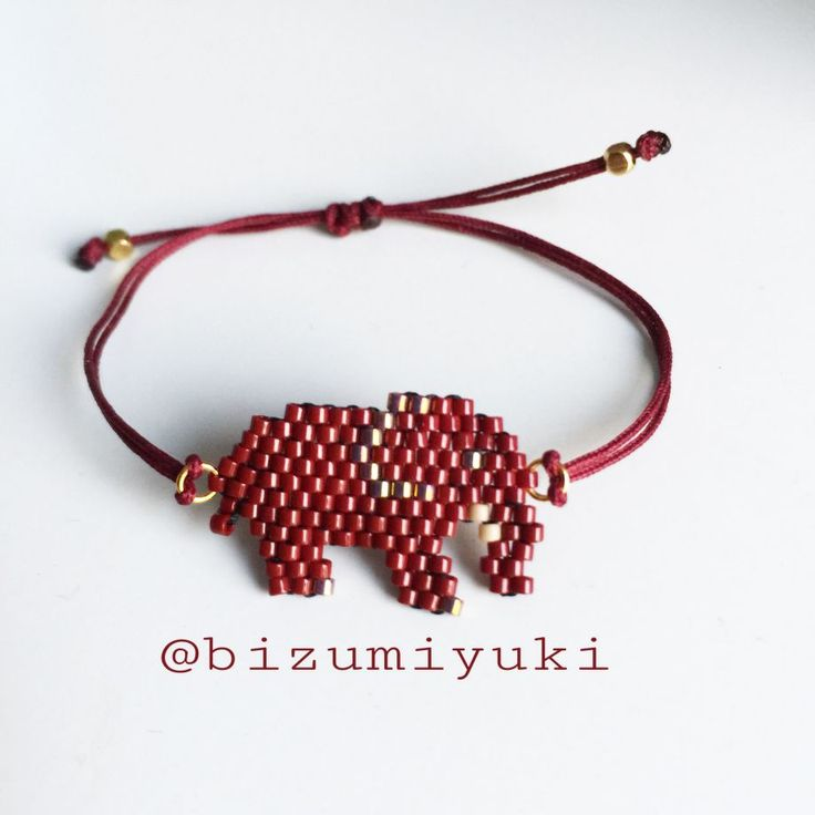 Filli miyuki bileklik (bordo) Uğur getirdiğine inanılan filler şimdi bileklerde.. İstediğiniz renkte ve kolye olarak da.... 386133