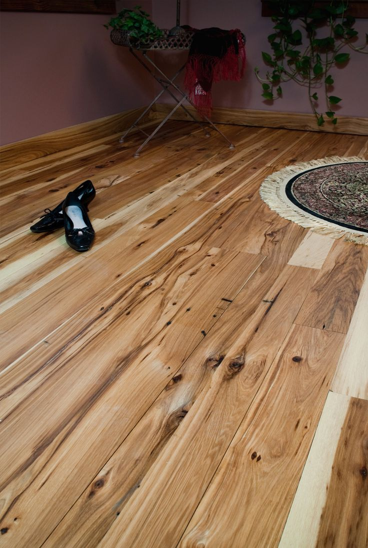 Antique American Hickory Flooring - Kitchen