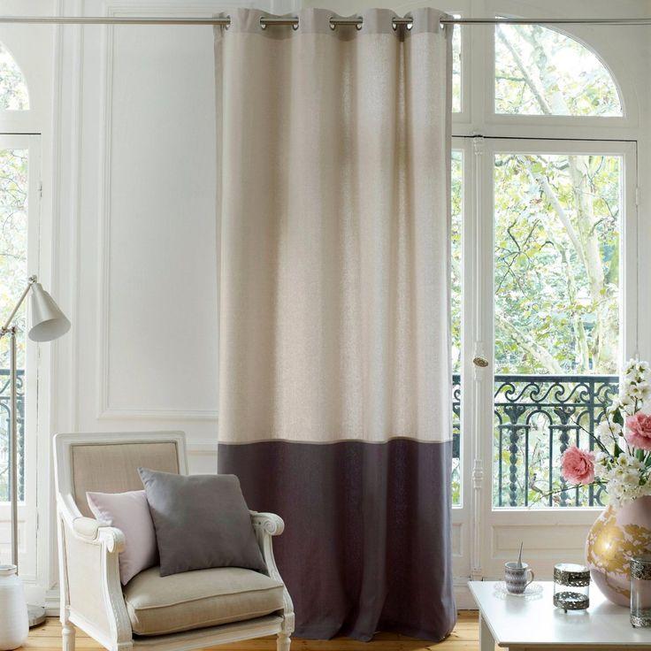 Rideau bicolore en bâchette, AGURI La Redoute Interieurs : prix, avis…