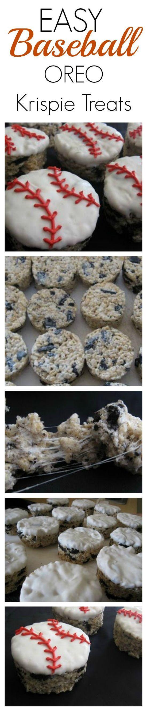 EASY Baseball OREO Krispie Treats! SO easy and kids LOVE #healthy Dessert #health Dessert| http://healthdessert.lemoncoin.org