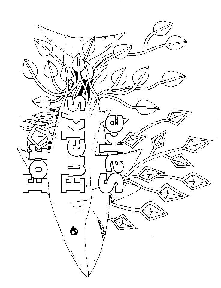 Shark Swear Word Coloring Page Get 14 FREE Swear Word Coloring Pages When You Sign Up At