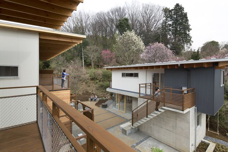 Wooden rental housing and farm in community forest [tetto]