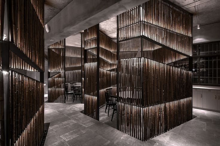 Yiduan Shanghai International Design completes new restaurant with separated bamboo rooms in China
