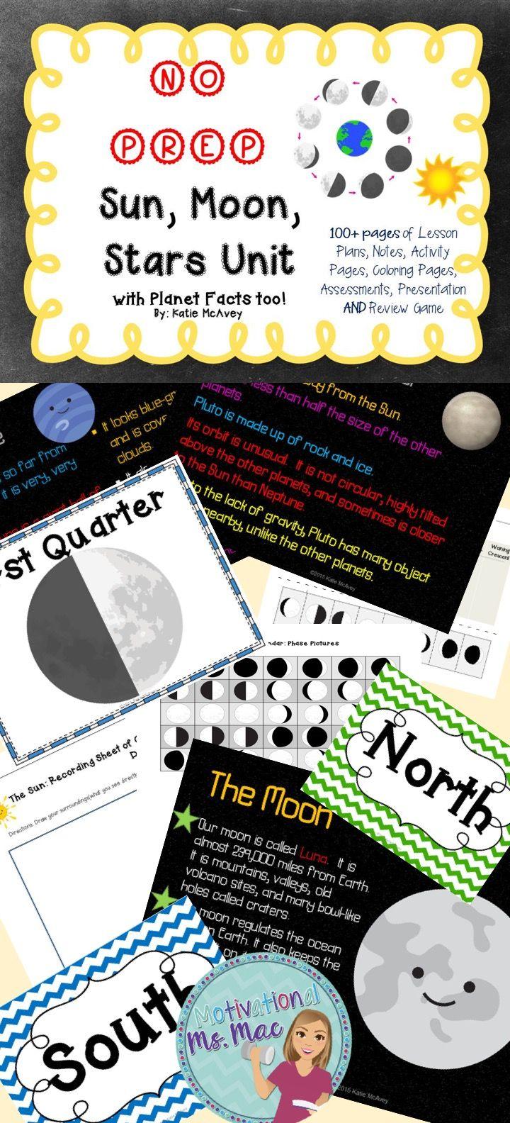 fifth grade science lesson plans sun