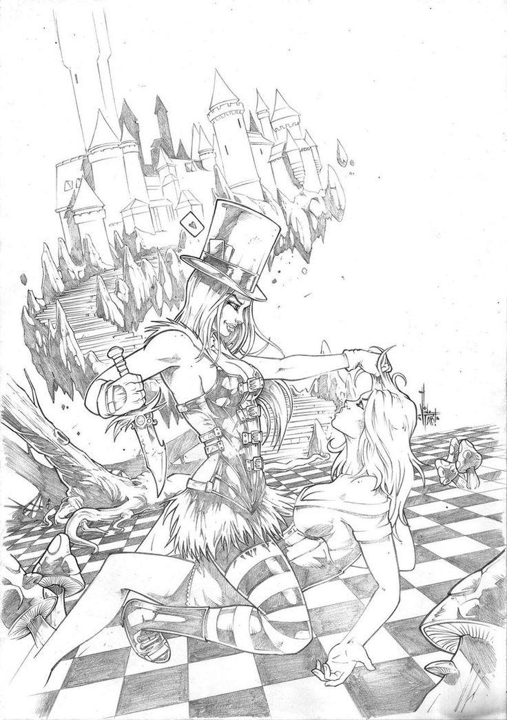 Grimm Fairy Tales Wonderland 31 pencil by VinzelTabanas