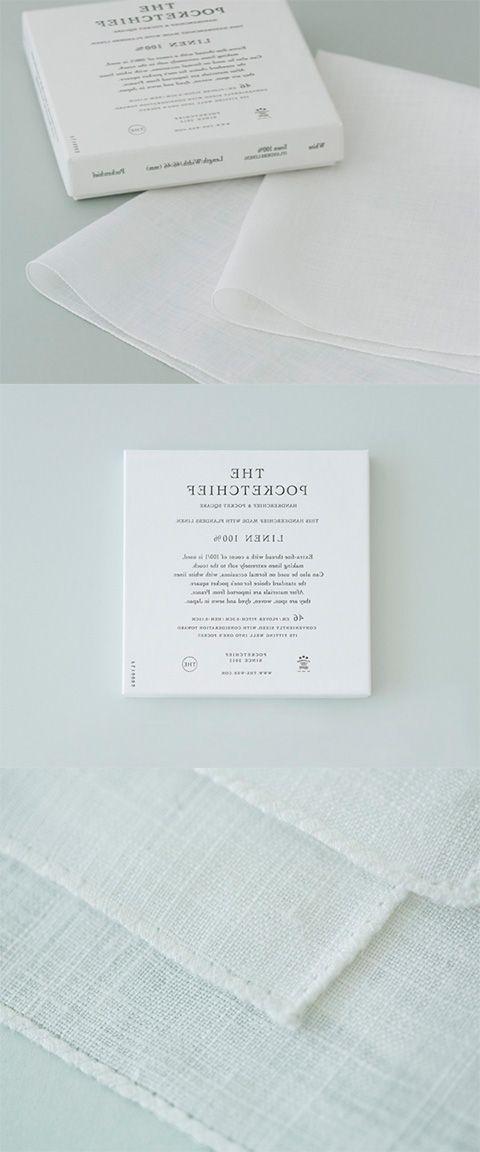 【THE POCKETCHIEF WHITE(中川政七商店)】/『THE POCKETCHIEF』は、フォーマルな場に最も相応しいとされるリネン100%で作られた、真っ白なポケットチーフ。フランス、ベルギー、オランダにまたがるフランダース地方で採れた世界最高峰リネンにのみ使用が許される「フランダースリネン」を100%使用し、日本で紡績・製織・染色・縫製を施しています。大切な方へのプレゼントとしても最適なアイテムです。 #package
