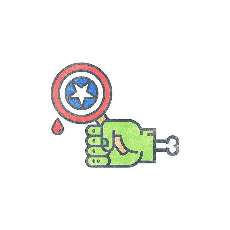Avengers.  #vector #vectorart #vectors #vectorillustration #adobeillustrator #illustration #avengers #avengersageofultron #hulk #captainamerica #hammer #green #behance #picoftheday #icecream