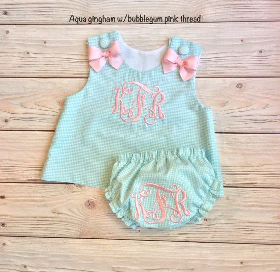 Monogram+baby+girl+dress+and+bloomers+monogram+by+waidcreations