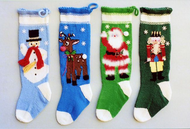 Free Knitting Pattern For Aran or Fisherman's Knit Christmas Stocking
