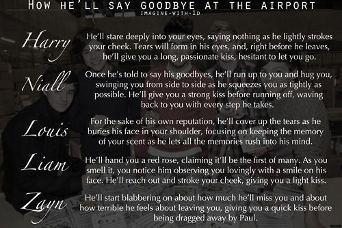 How you say goodbye @ the airport!  Zayn's one! LOL