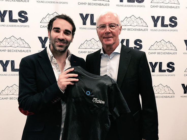 Thanks to @beckenbauer and @CAMPBECKENBAUER  for support @FirstV1sion imagine Franz wearing it!! #YLS #ylssummit