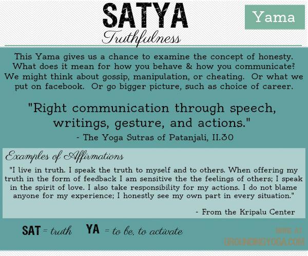 An essay on truth or satya