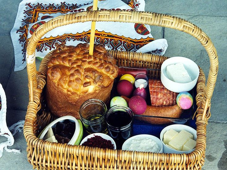 A pretty example of a traditional Pascha (Easter) basket.