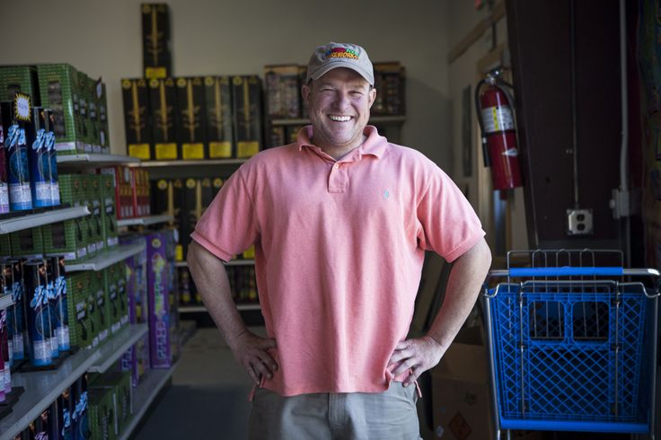 Sean MacMillian - owner of a firework shop and disc golf course in Holden