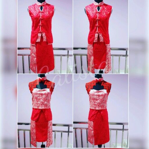Chinese tops,qipao You can make mix and match this two adorable pieces