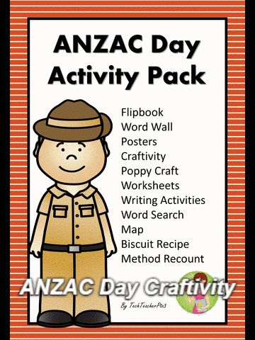 ANZAC Day Craftivity - a fun and engaging way to commemorate ANZAC Day this activity comes from the ANZAC Day Activity Pack perfect for the primary classroom.