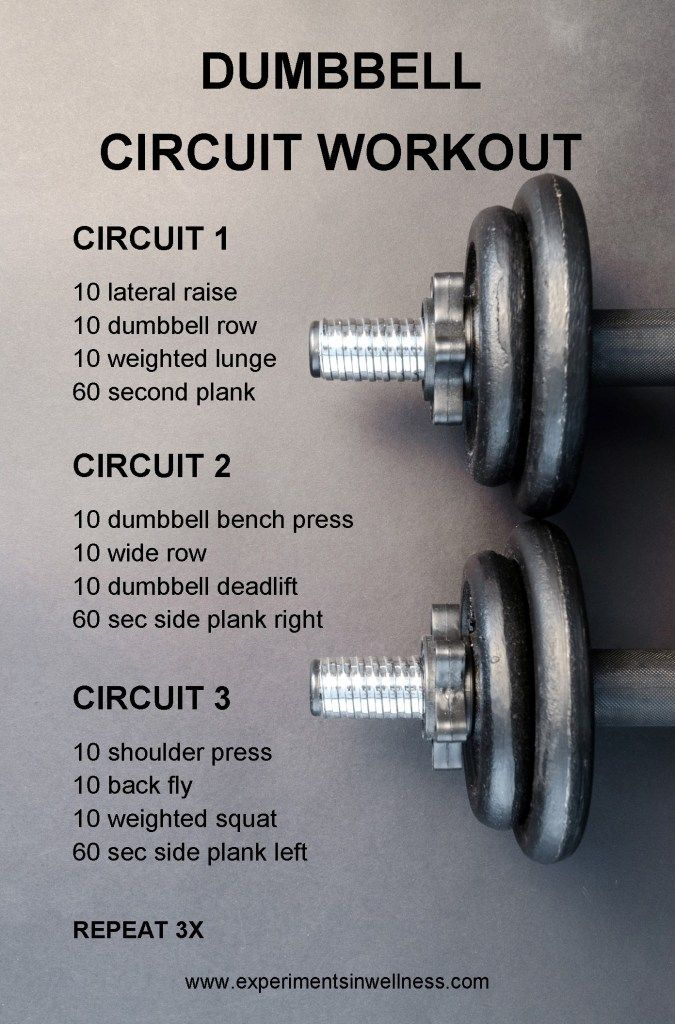 Pin on Dumbell circuit